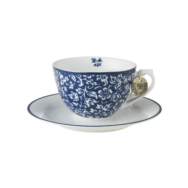 Laura Ashley Cappuccino Tasse mit Unterer Sweet Alyssum