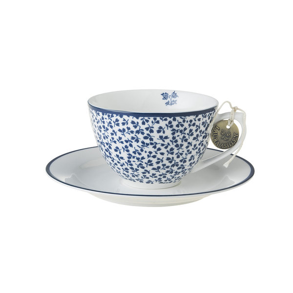 Laura Ashley Cappuccino Tasse mit Unterer Floris