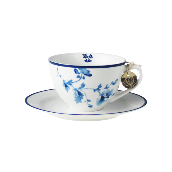 Laura Ashley Cappuccino Tasse mit Unterer China Rose