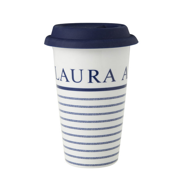 Laura Ashley Coffee to go 370 ml Candy Stripe