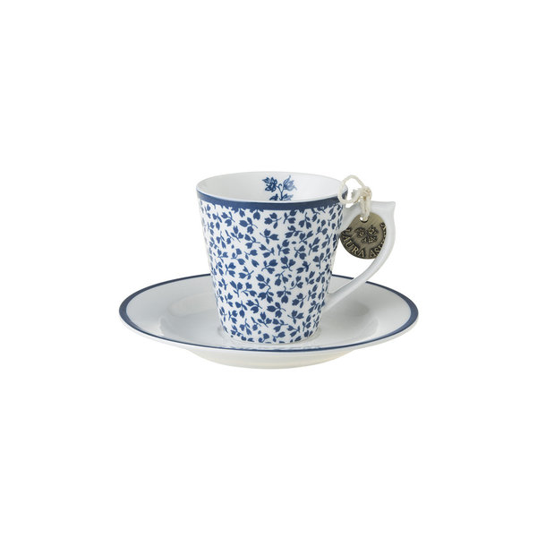 Laura Ashley Espresso Tasse mit Unterer  Floris