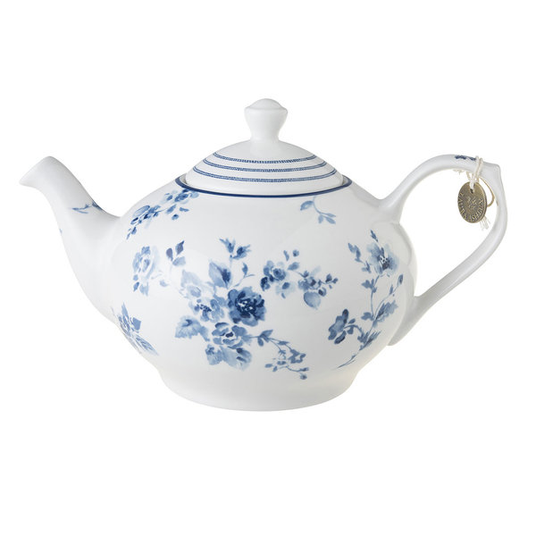 Laura Ashley Teekanne/Teapot  1,5 L China Rose 14 x 25, 1-2 Personen