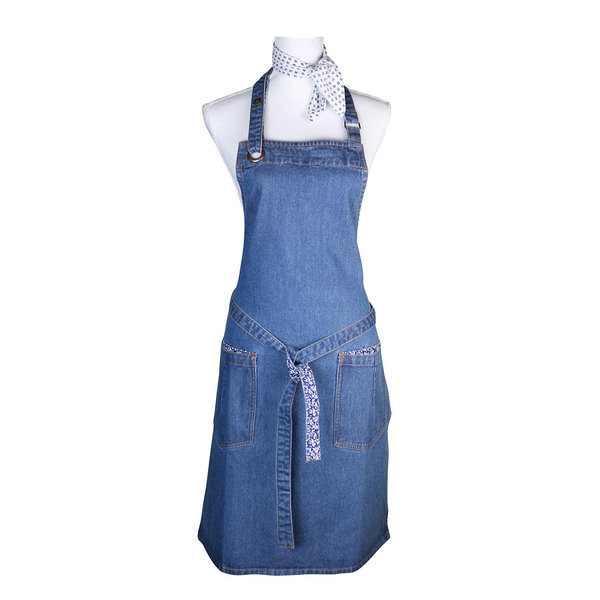 Laura Ashley Schürze/ Apron     Jeans/Cotton 60 x 85