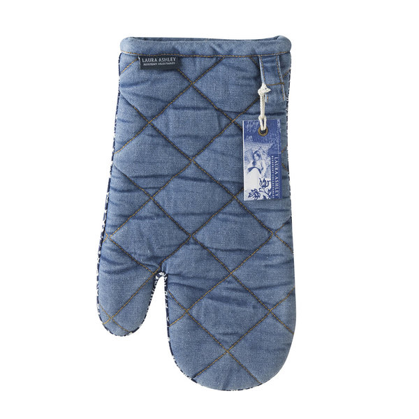 Laura Ashley Ofenhandschuh/Oven glove    Jeans/Cotton 33 x 18