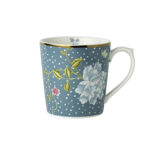 Laura Ashley Becher/Mug   0,32 l Seaspray Uni H 9cm, D 8 cm