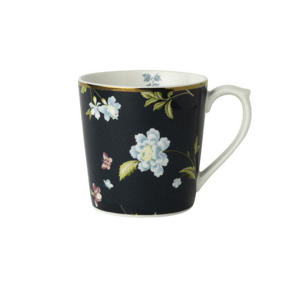 Laura Ashley Becher/Mug   0,32 l  Midnight Uni H 9 cm, D 8cm