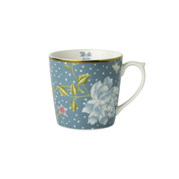 Laura Ashley Becher/Mug 0,22 l Seaspray Uni  H&D 7,5 cm