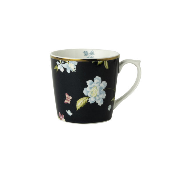 Laura Ashley Becher/Mug 0,22 l Midnight Uni  H&D 7,5 cm