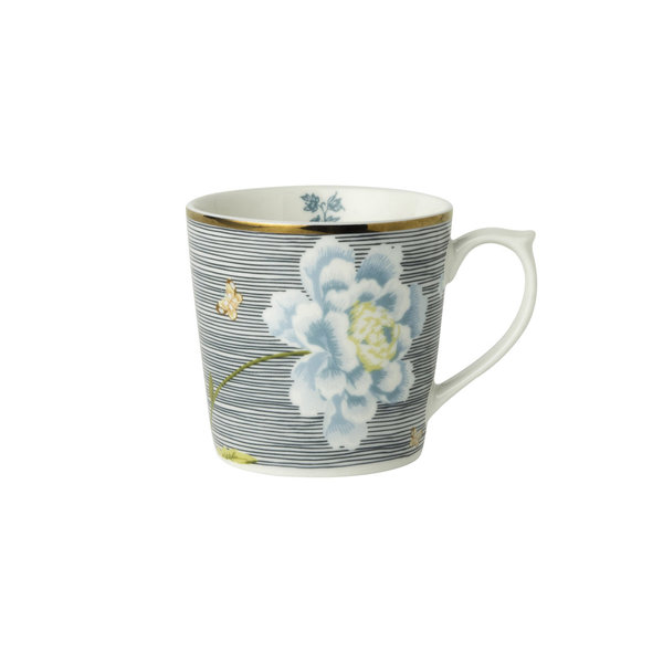 Laura Ashley Becher/Mug 0,22 l Midnight Pinstripe H&D 7,5 cm