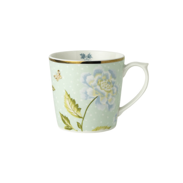 Laura Ashley Becher/Mug   0,22 l Mint Uni  H&D 7,5 cm